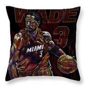 Wade Throw Pillow by Maria Arango