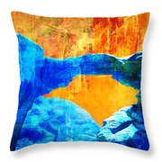 Wadi Rum Natural Arch 2 Throw Pillow by Catf