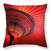 Wagasa Throw Pillow by Delphimages Photo Creations
