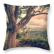 Waihee Ridge Trail Maui Hawaii Throw Pillow by Edward Fielding