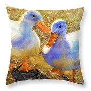Wait For Me Throw Pillow by Bonnie Rinier