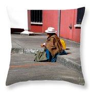 Waiting Throw Pillow by Al Bourassa