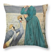 Waiting And Watching Throw Pillow by Henry Stacey Marks