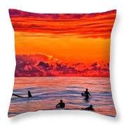 Waiting For The Next Set Throw Pillow by Michael Pickett