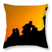 Waiting For The Sun Throw Pillow by Hannes Cmarits