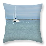 Waiting In Provincetown Throw Pillow by Michelle Wiarda