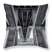 Walk In My Shoes Follow My Footsteps Throw Pillow by CJ Schmit