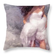Walk Off The Earth Throw Pillow by Jenny Rainbow
