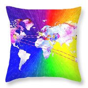 Walk The World Throw Pillow by Daniel Janda