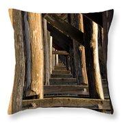 Walking Bridge II Throw Pillow by Bill Gallagher