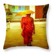 Walking In The Sun Throw Pillow by Allan Rufus
