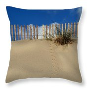 walking on the moon Throw Pillow by Laura  Fasulo