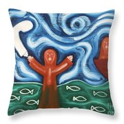 Walking On Water 2 Throw Pillow by Patrick J Murphy