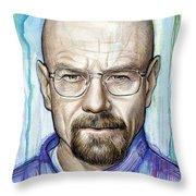 Walter White - Breaking Bad Throw Pillow by Olga Shvartsur