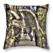War Eagles - Vermont Company F 1st U. S. Sharpshooters-a1 Pitzer Woods Gettysburg Throw Pillow by Michael Mazaika