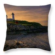 Warm Nubble Dawn Throw Pillow by Joan Carroll