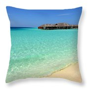 Warm Welcoming. Maldives Throw Pillow by Jenny Rainbow