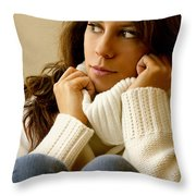 Warmth Throw Pillow by Margie Hurwich