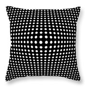 Warped Space Throw Pillow by Daniel Hagerman