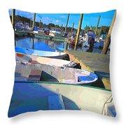 Warwick Marina Throw Pillow by Lourry Legarde