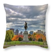 Washington in the Public Garden Throw Pillow by Joann Vitali