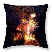 Washington Monument Fireworks 3 Throw Pillow by Stuart Litoff