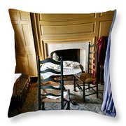 Washington Slept Here Throw Pillow by Olivier Le Queinec
