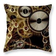 Watch Mechanism. Close-up Throw Pillow by Bernard Jaubert