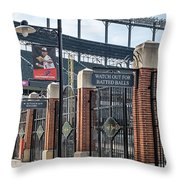Watch Out For Batted Balls Throw Pillow by Susan Candelario