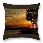 Watch The Sun Set Throw Pillow by John Malone