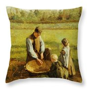 Watching Father Work Throw Pillow by Albert Neuhuys