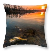 Watching Sunset Throw Pillow by Davorin Mance
