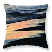 Water Colors .. Throw Pillow by Michael Thomas