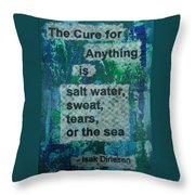 Water Cure - 1 Throw Pillow by Gillian Pearce
