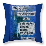 Water Cure - 2 Throw Pillow by Gillian Pearce