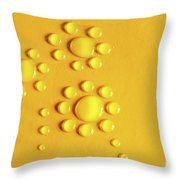 Water Flowers Throw Pillow by Carlos Caetano