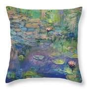 Water Garden Throw Pillow by Michael Creese