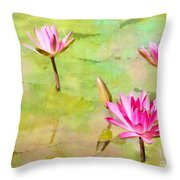 Water Lilies Inspired By Monet Throw Pillow by Sabrina L Ryan