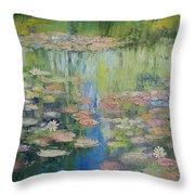 Water Lily Pond Throw Pillow by Michael Creese