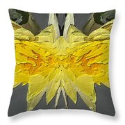 Water Lily Unleashed 4 Throw Pillow by Tim Allen