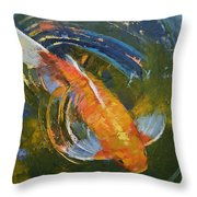 Water Ripples Throw Pillow by Michael Creese