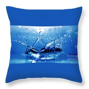 Water Splash Throw Pillow by Michal Bednarek
