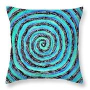 Water Vortex Throw Pillow by Carla Sa Fernandes