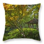 Watercolor Gardens Throw Pillow by Joan Carroll