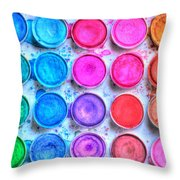 Watercolor Throw Pillow by Heidi Smith