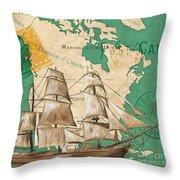 Watercolor Map 2 Throw Pillow by Debbie DeWitt