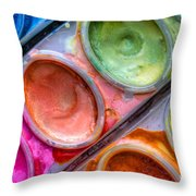 Watercolor Ovals One Throw Pillow by Heidi Smith