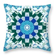 Watercolor Quilt Throw Pillow by Barbara Griffin
