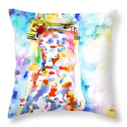 Watercolor Woman.18 Throw Pillow by Fabrizio Cassetta