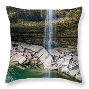 Waterfall At Hamilton Pool Throw Pillow by David Morefield